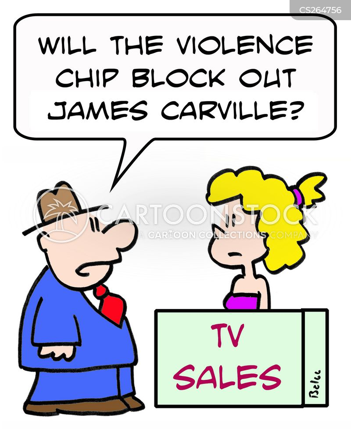 politician commentators cartoon