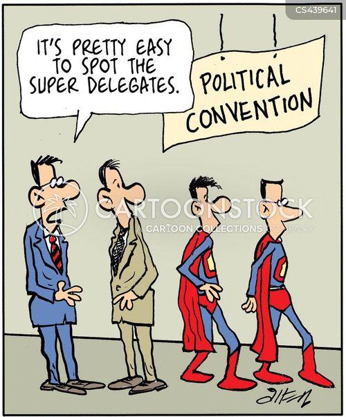 Super Delegates Cartoons And Comics Funny Pictures From CartoonStock - Delegates and superdelegates