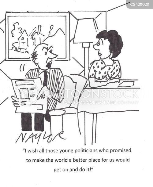 election platform cartoon