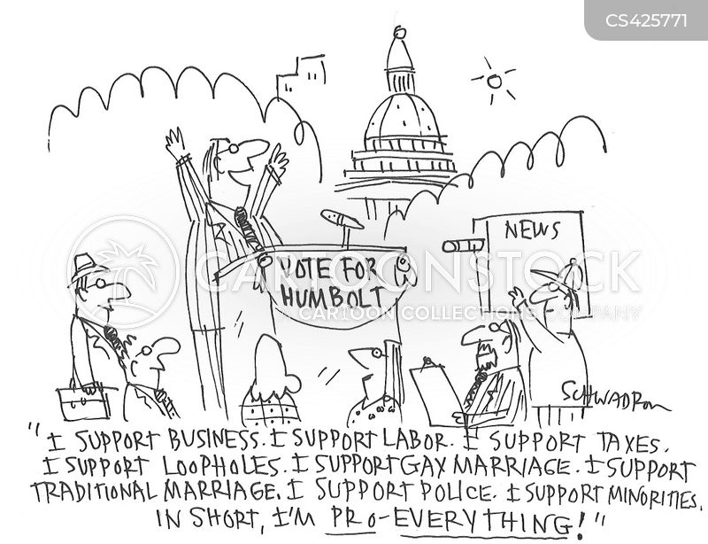 campaign speeches cartoon