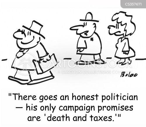 death and taxes cartoon