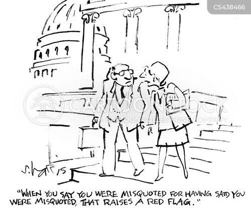 political quote cartoon