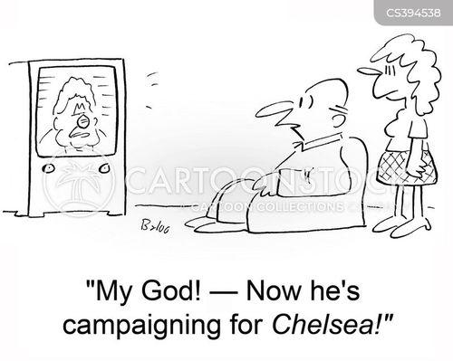 chelsea clinton cartoon