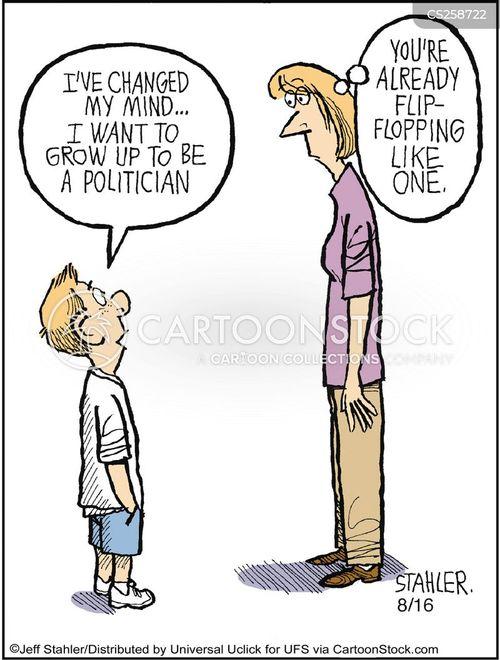 flip flopping cartoon