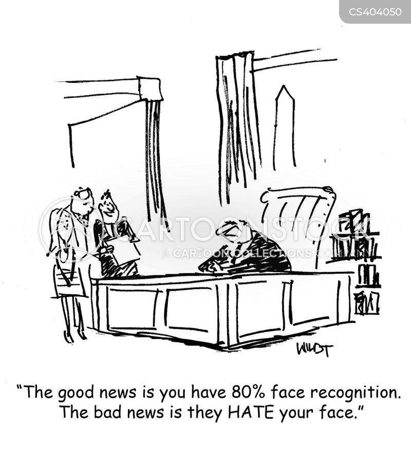 Face Recognition Cartoons and Comics - funny pictures from CartoonStock