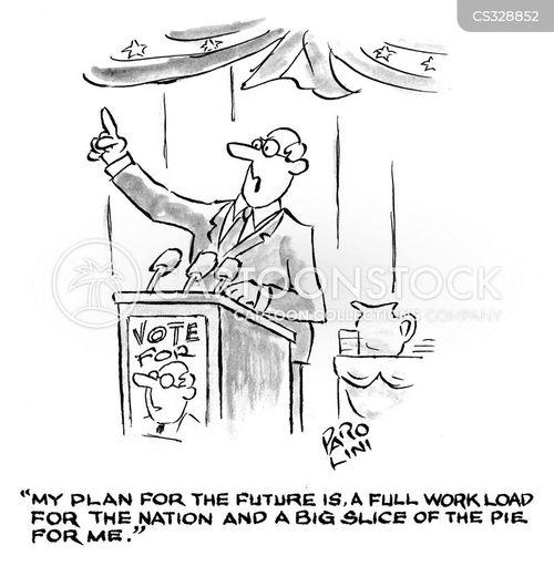 political lies cartoon