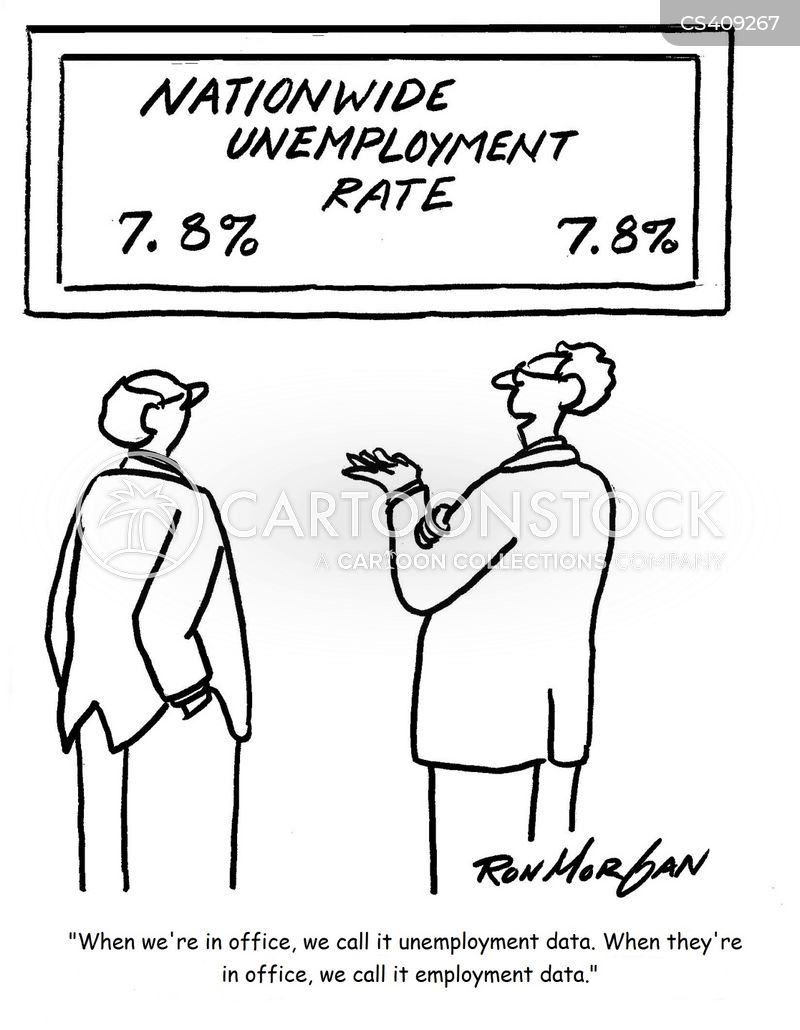 employment figures cartoon