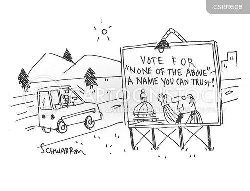 public official cartoon