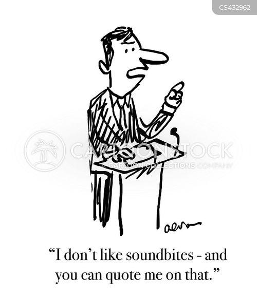 sound bite cartoon
