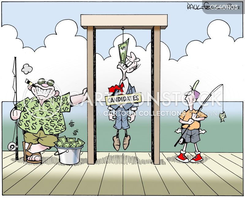 campaign financing cartoon