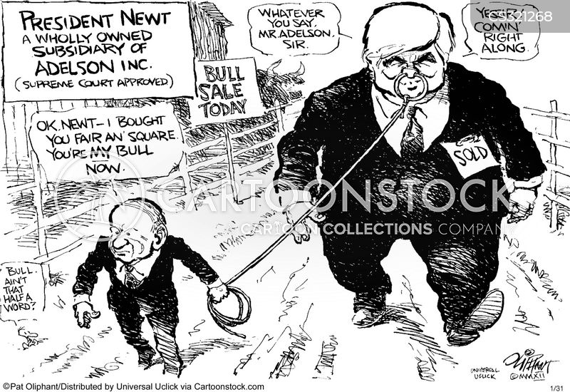 political action committee cartoon