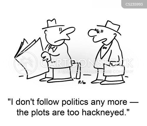 follow politics cartoon