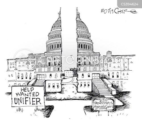 house divided cartoon