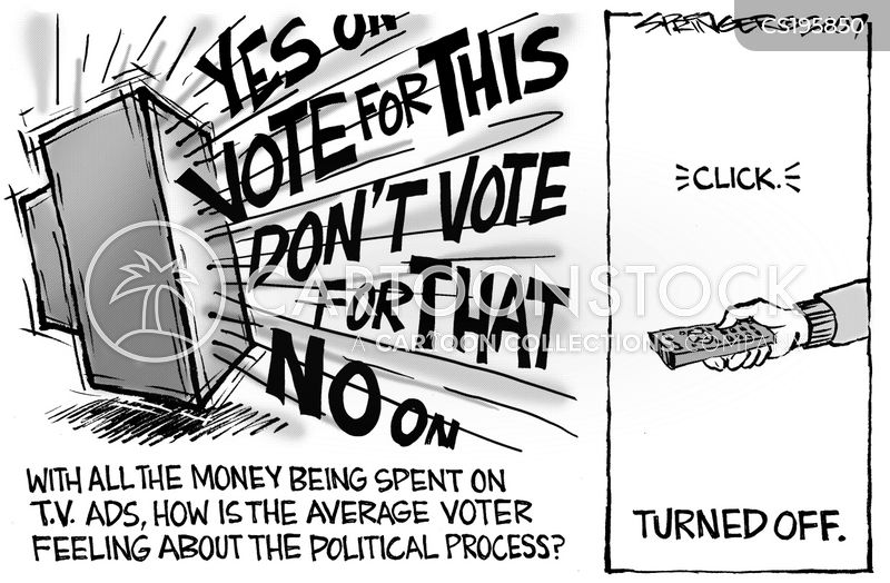 campaign finance cartoon