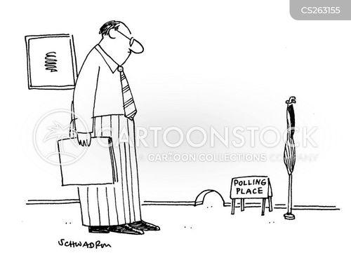 polling station cartoon