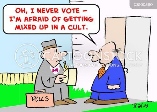 cult member cartoon