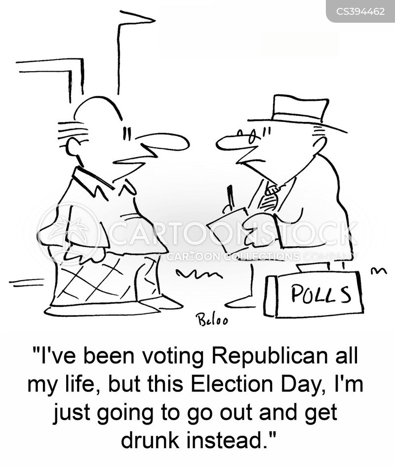 voting day cartoon