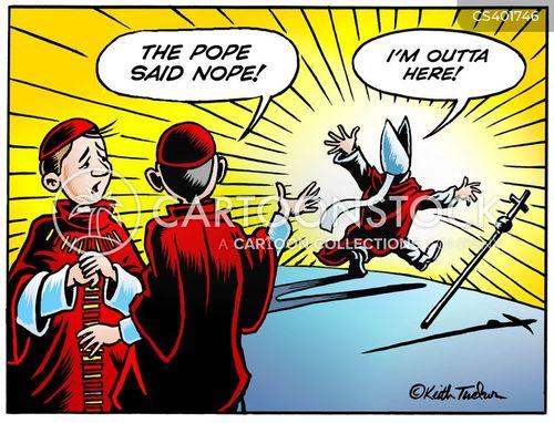 papacy cartoon