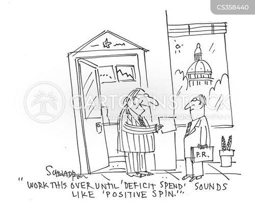 political spins cartoon
