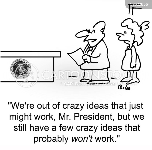 crazy idea cartoon