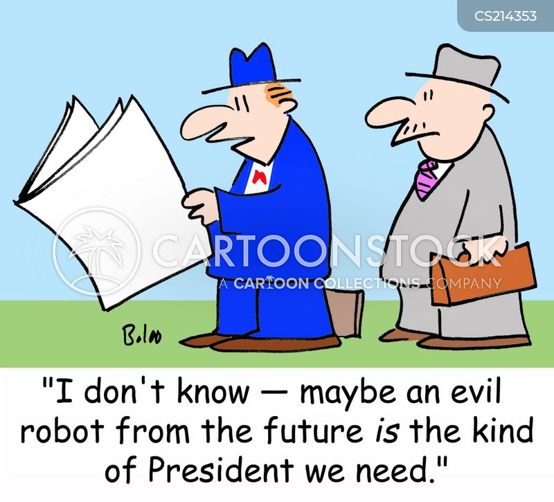 evil robots cartoon