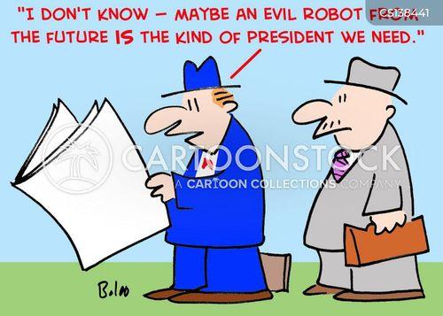 evil robot cartoon
