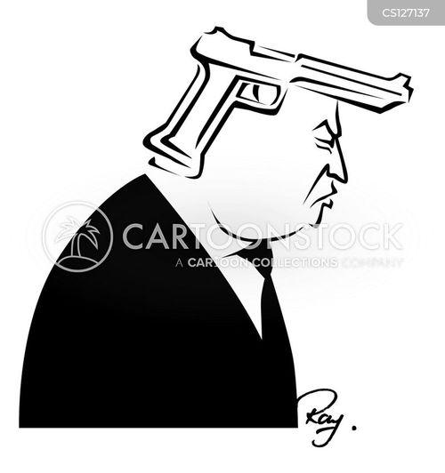 pro-gun cartoon