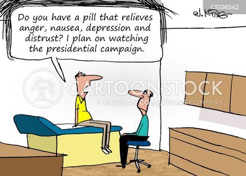 presidential race 2016 cartoon