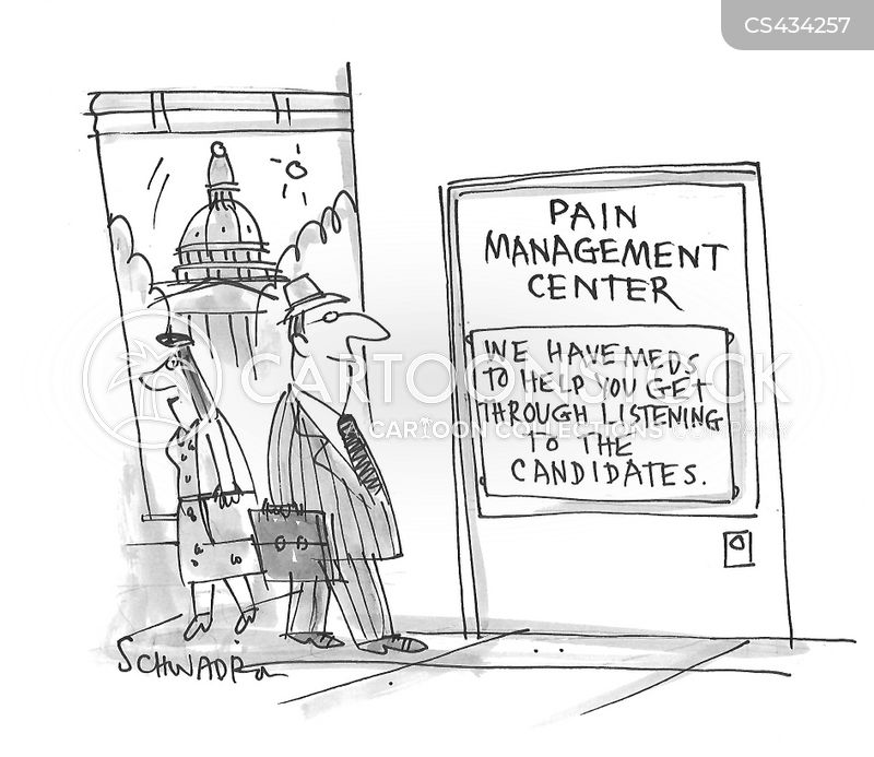 pain management cartoon