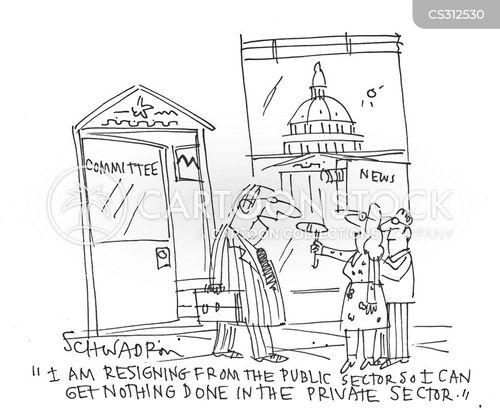 public sector worker cartoon