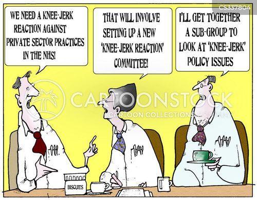 knee jerk reactions cartoon