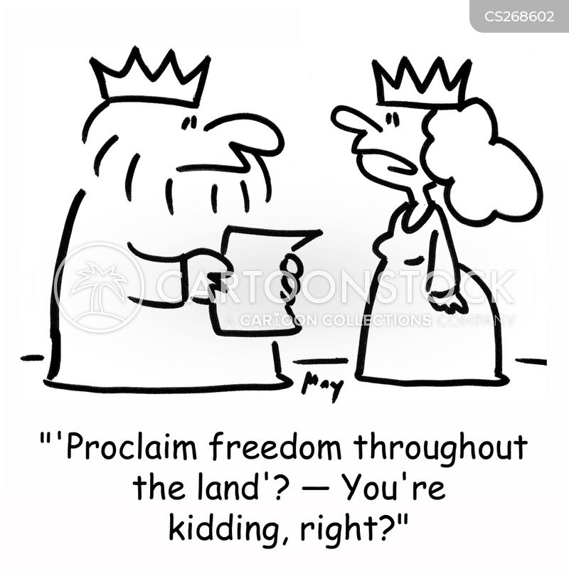 proclamations cartoon