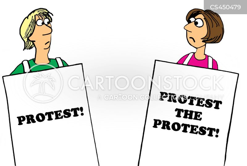 counter-protesters cartoon