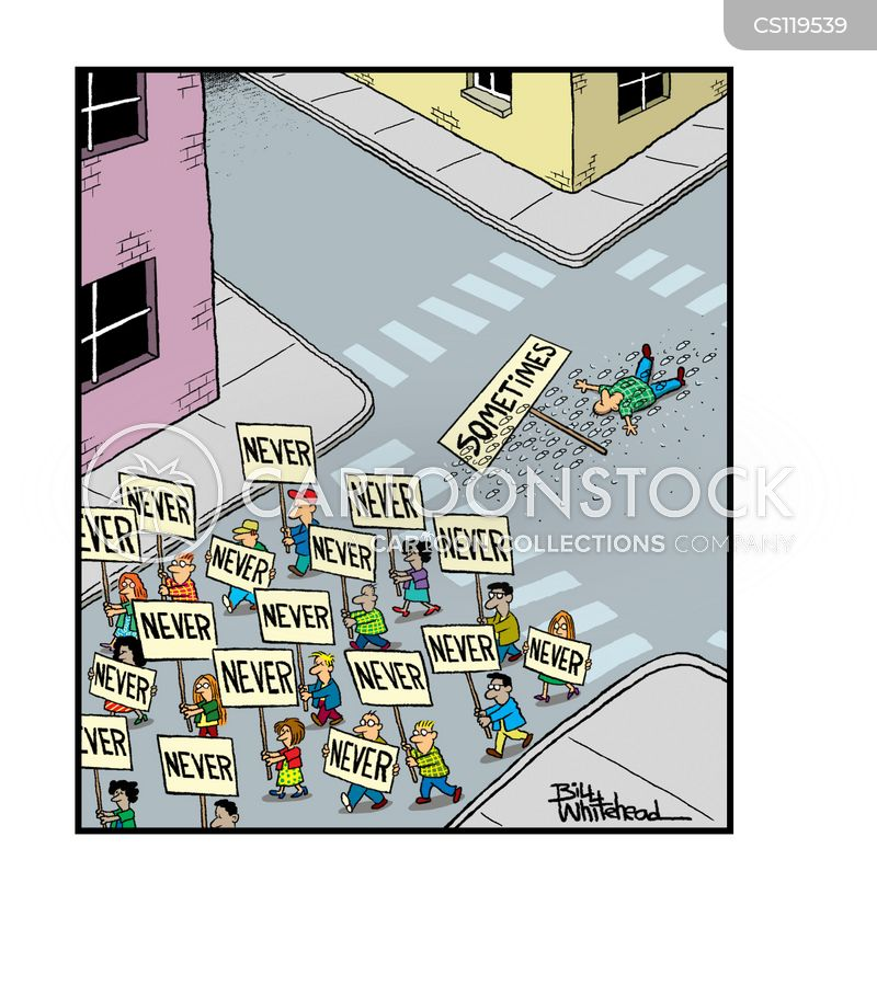 street protest cartoon