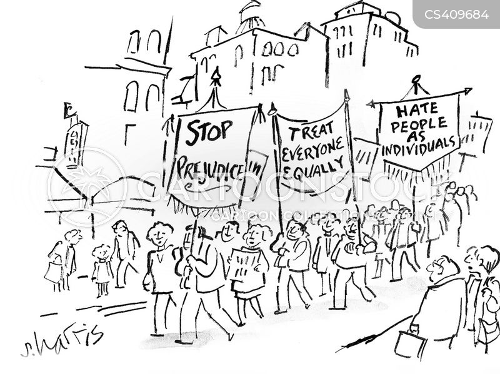 political protests cartoon