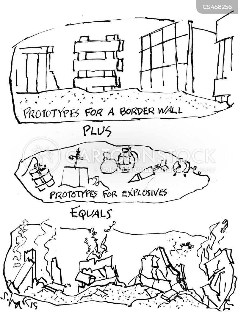 mexico border wall cartoon