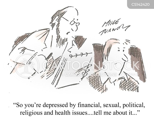 political issue cartoon