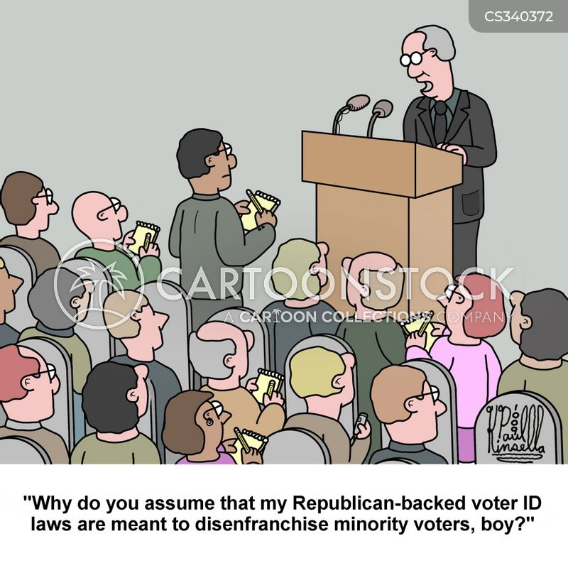 voter identification laws cartoon