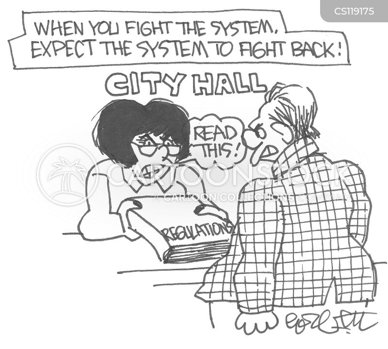 city hall cartoon