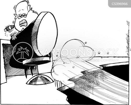 falling economy cartoon