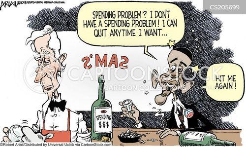 public spending cartoon