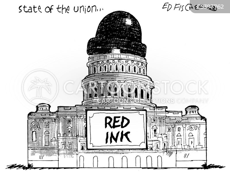 red ink cartoon