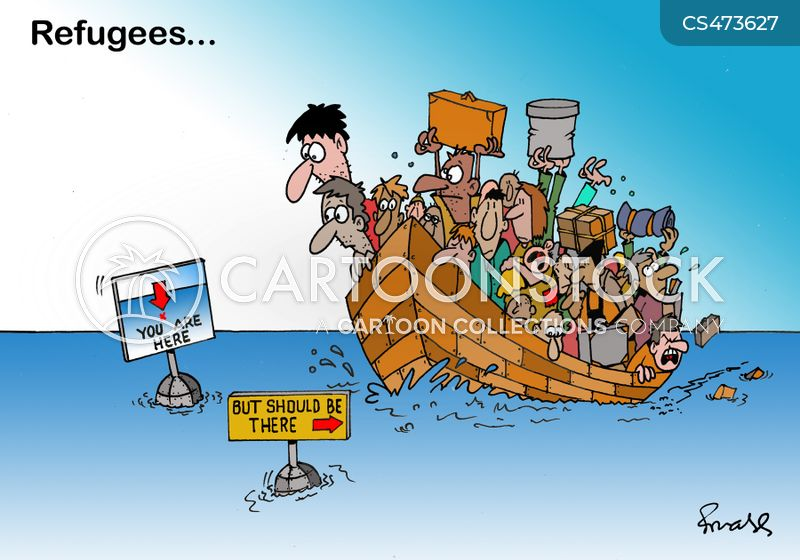 asylum seeking cartoon