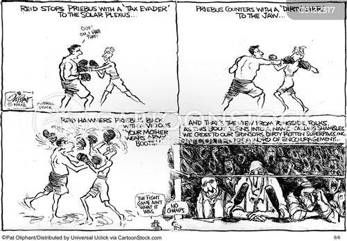 politics spat cartoon