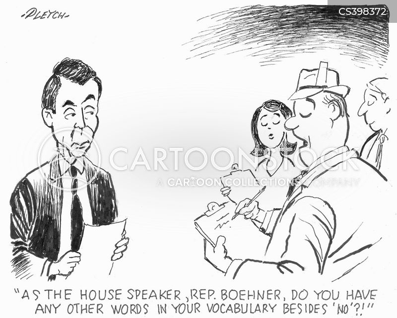 speakers of the house cartoon