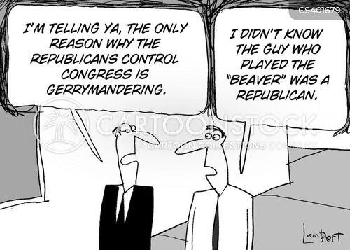 gerrymandering cartoon