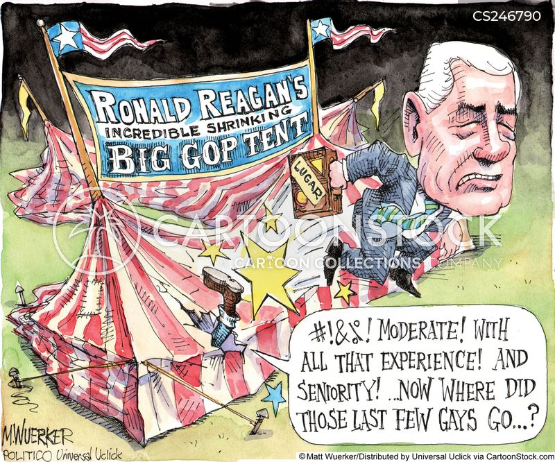 big tent cartoon