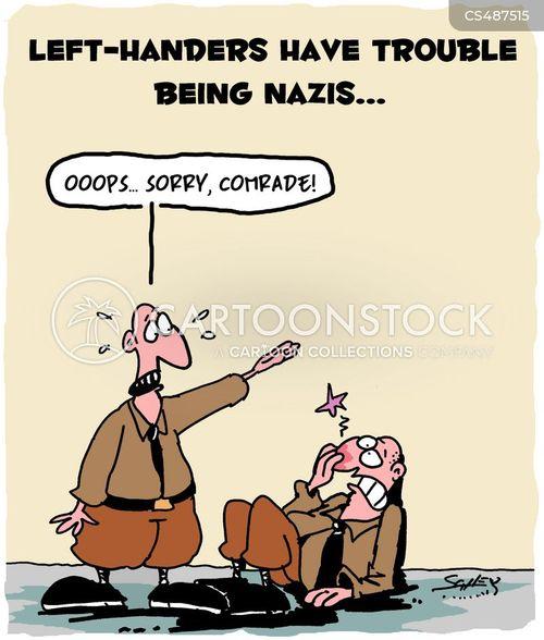neonazis cartoon