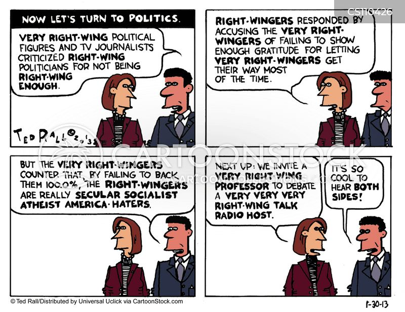 right-wingers cartoon