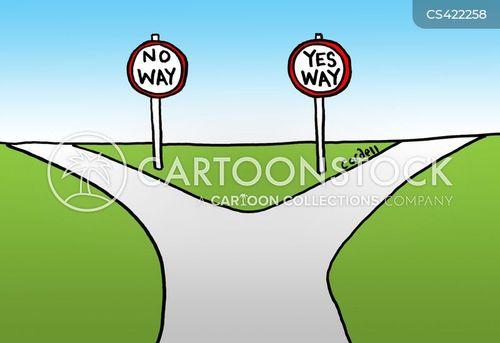crossroad cartoon